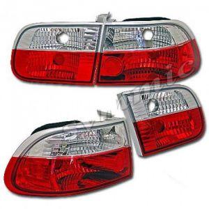Sonar Achterlicht Helder Glas Rood Glas Honda Civic-40908