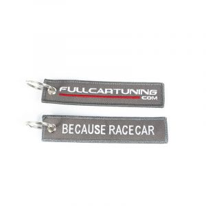Fullcartuning Sleutelhanger Because Racecar Grijs-56207