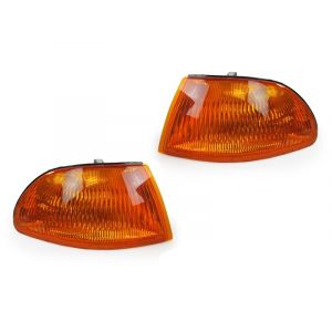 Sonar Hoeklichten JDM Style Chrome Housing Oranje Glas Honda Civic-31662