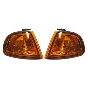 Sonar Hoeklichten JDM Style Chrome Housing Oranje Glas Honda Prelude-31664