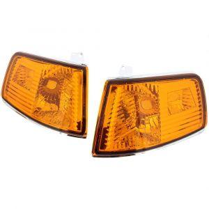 Sonar Hoeklichten Chrome Housing Oranje Glas Honda CRX Facelift-35098