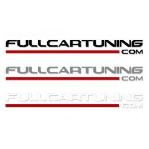 Fullcartuning Sticker Met Rode Streep 100cm-37151