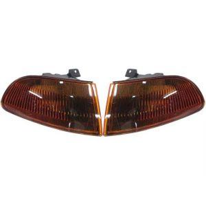 Sonar Hoeklichten JDM Style Chrome Housing Smoke Amber Glas Honda Civic-38083