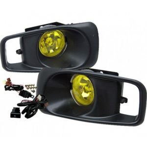 SK-Import Mistlampen OEM Style Chrome Housing Geel Glas Honda Civic Facelift-39472
