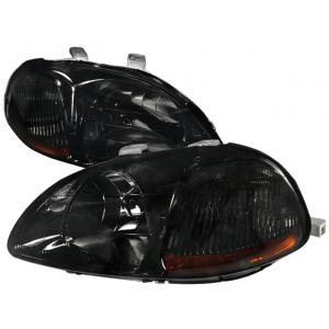 SK-Import Koplampen JDM Style Amber Corner Chrome Housing Smoke Glas Honda Civic Pre Facelift-43468
