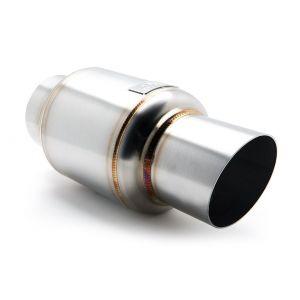 Blox Racing Achter Universele Uitlaat Demper Mini Race 63.5mm Roestvrij Staal-44276