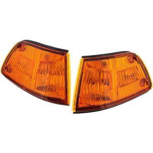 Sonar Hoeklichten JDM Style Chrome Housing Oranje Glas Honda Civic Pre Facelift-46019