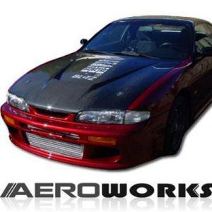 AeroworkS Motorkap Invader Style Carbon Nissan S14-30608