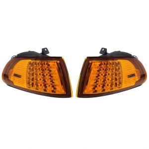 Eagle Eye Knipperlichten LED Chrome Housing Oranje Glas Honda Civic-50096