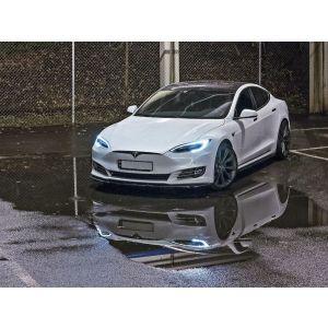 Maxton Side Skirts Zwart ABS Plastic Tesla Model S Facelift-77204