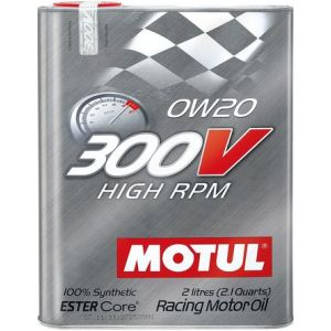 Motul Motorolie 300V High RPM 2 Liter 0W-20 100 Synthetisch-58896