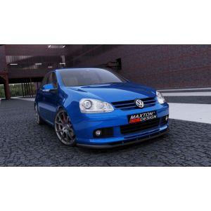 Maxton Voor Bumper Lip Voltex Style Glanzend Zwart ABS Plastic Volkswagen Golf-60352