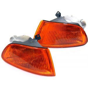 SK-Import Hoeklichten JDM Style Chrome Housing Oranje Glas Honda Civic-30018