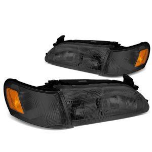 SK-Import Koplampen Chrome Housing Oranje Glas Smoke Glas Toyota Corolla-66565