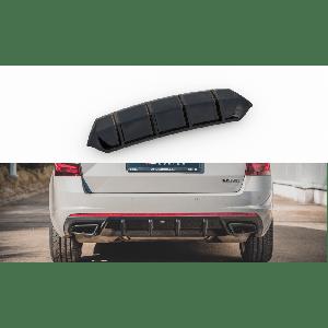 Maxton Achter Diffuser V1 Zwart ABS Plastic Skoda Octavia-77194