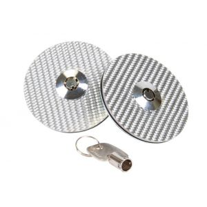 NRG Innovations Motorkapsloten Met Slot Zilver Carbon-77909