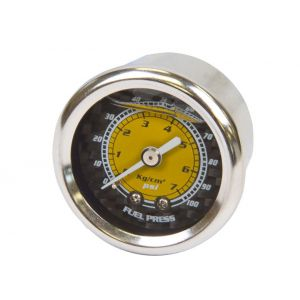 NRG Innovations Brandstofdruk Meter Carbon-77894