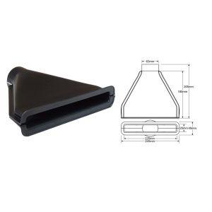 QSP Luchtinlaat Zwart 63.5mm-53346