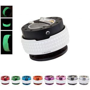 NRG Innovations Snap-Off Studded Ring - Lichtgevend Aluminium-79676