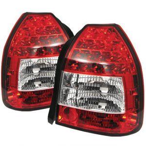 Sonar Achterlicht LED Helder Glas Rood Glas Honda Civic-40987