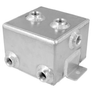 QSP Brandstof Catch Tank Zilver Aluminium-80126