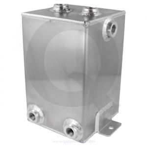 QSP Brandstof Catch Tank Zilver 3 Liter Aluminium-80127