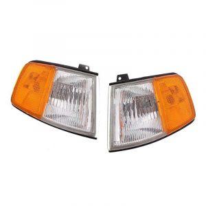 DEPO Hoeklichten USDM Style Chrome Housing Oranje Glas Helder Glas Honda CRX Facelift-43502