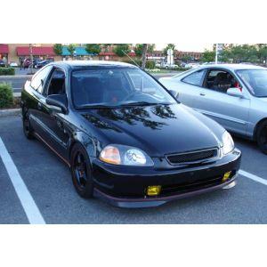PU Design Voor Bumper Lip Type R Style Zwart Polyurethane Honda Civic Pre Facelift-46525