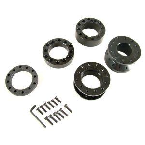 D1 Spec Stuurnaaf Verlenger Zwart Aluminium-42956