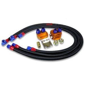 SK-Import Olie Filter Relocation Kit Zwart-56382