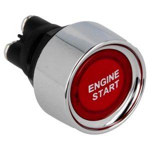 QSP Start Knop Rood - Zilver 22mm-80220