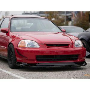 PU Design Voor Bumper Lip GV Style Zwart Polyurethane Honda Civic Pre Facelift-57324