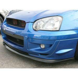 PU Design Voor Bumper Lip V-Spec Style Zwart Polyurethane Subaru Impreza-30194